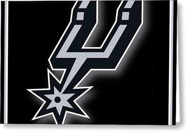 San Antonio Spurs Greeting Card by Tony Rubino