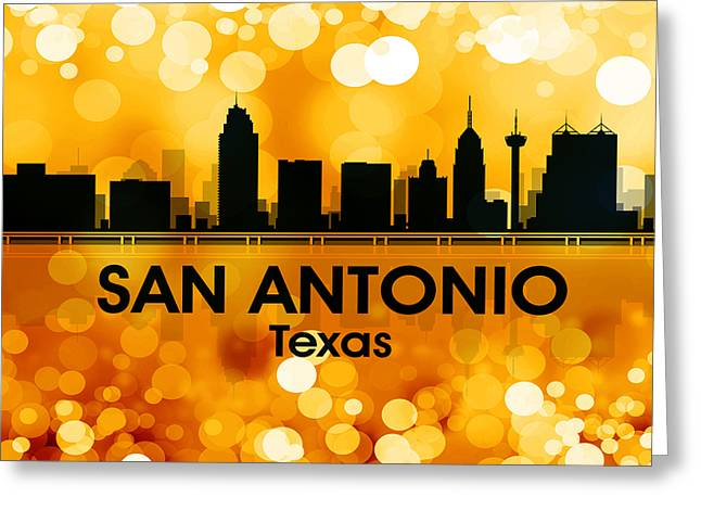 Industrial Icon Greeting Cards - San Antonio TX 3 Greeting Card by Angelina Vick