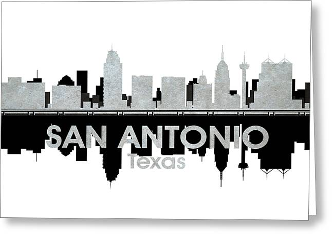 Id Greeting Cards - San Antonio TX 4 Greeting Card by Angelina Vick