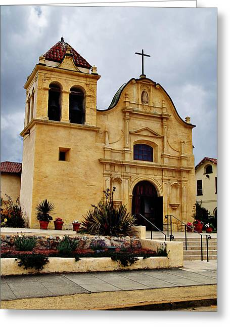Colonial Architecture Greeting Cards - San Carlos Cathedral - Monterey California Greeting Card by Glenn McCarthy Art and Photography