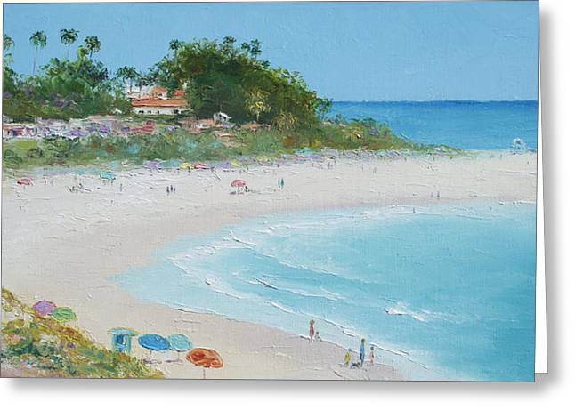Clemente Paintings Greeting Cards - San Clemente Beach Panorama Greeting Card by Jan Matson