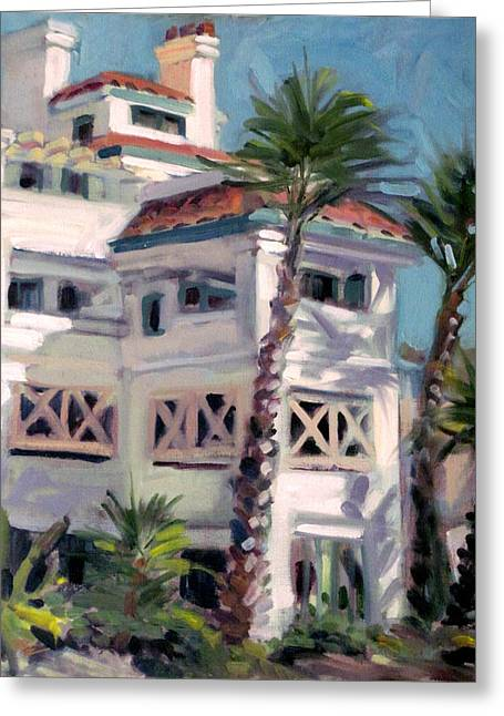 San Clemente Facade Greeting Card by Mark Lunde