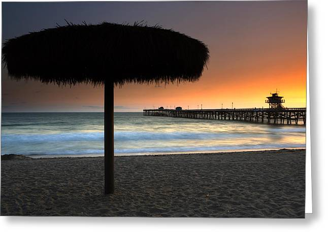 Clemente Greeting Cards - San Clemente Pier Greeting Card by Eric Foltz