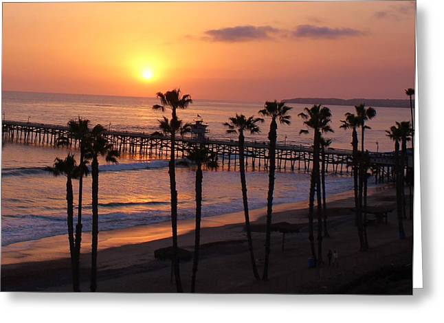 Recently Sold -  - Clemente Greeting Cards - San Clemente Pier Greeting Card by Kristy  Morris