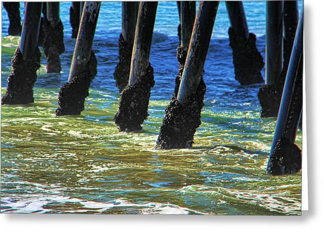 San Clemente Pier Greeting Card by Mariola Bitner