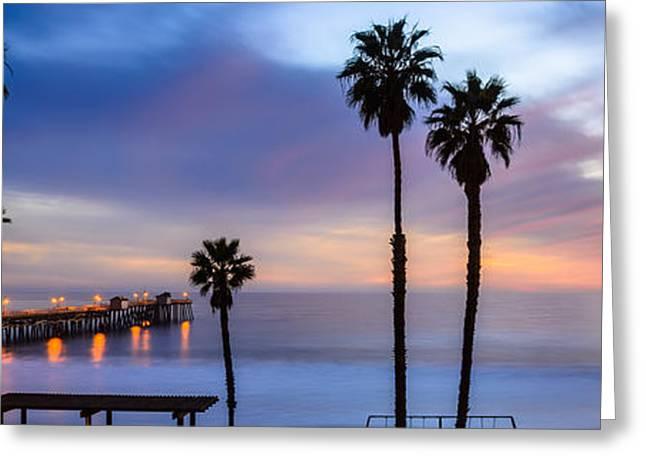 Clemente Greeting Cards - San Clemente Pier Greeting Card by Radek Hofman