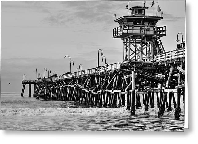 Village By The Sea Greeting Cards - San Clemente Pier Greeting Card by Richard Cheski
