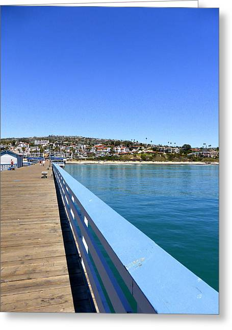 Clemente Greeting Cards - San Clemente Pier Greeting Card by Richard Stout
