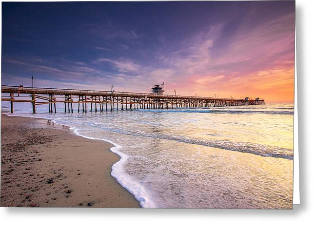 Clemente Greeting Cards - San Clemente Pier Greeting Card by Robert  Aycock