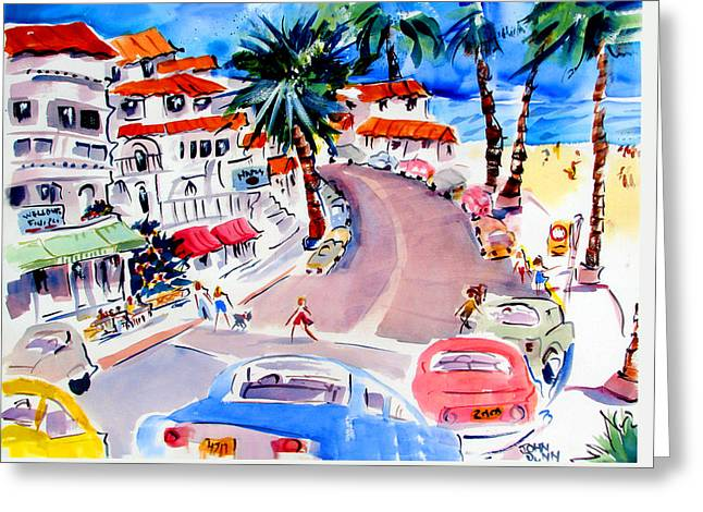 Clemente Paintings Greeting Cards - San Clemente Strip Greeting Card by John Dunn