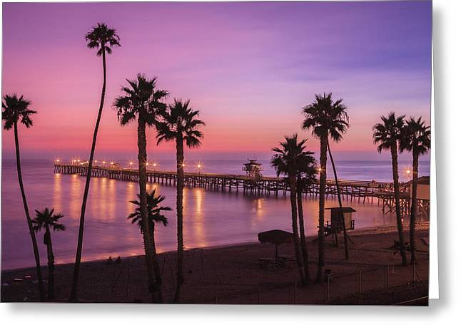 San Clemente Sunset Meditation Greeting Card by Scott Campbell