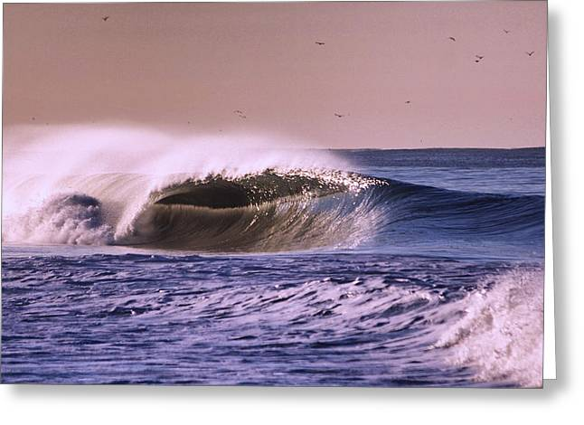 San Clemente Wave Greeting Card by Bob Hasbrook