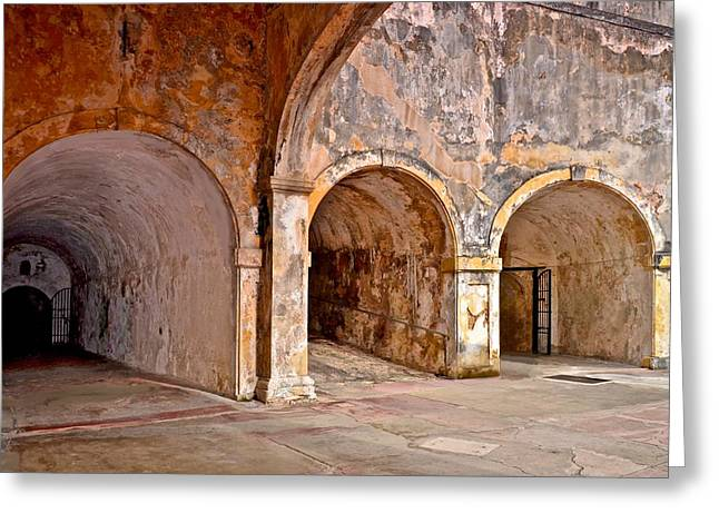 Adoquines Greeting Cards - San Cristobal Fort Tunnels Greeting Card by Ricardo J Ruiz de Porras