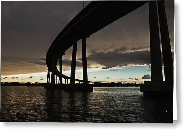 San Diego Bay Bridge Greeting Card by Russ Harris
