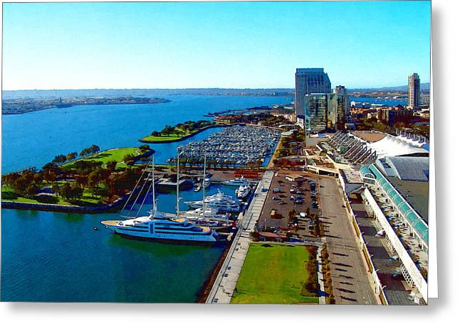 Convention Digital Art Greeting Cards - San Diego By Day Greeting Card by Glenn McCarthy Art and Photography