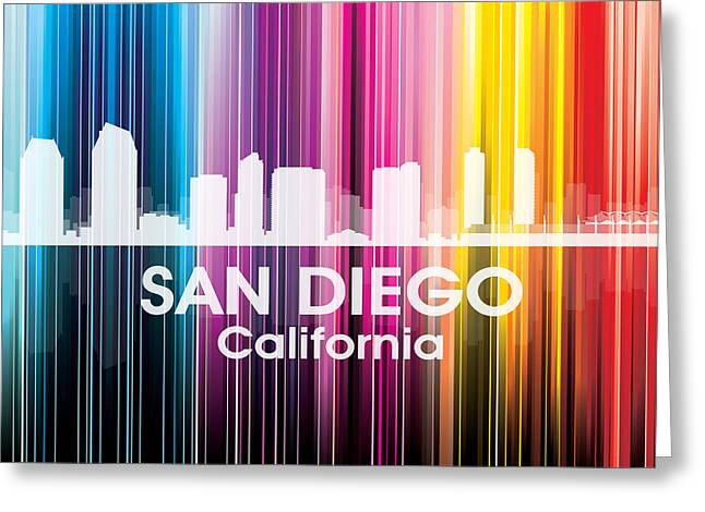 San Diego Ca 2 Greeting Card by Angelina Vick