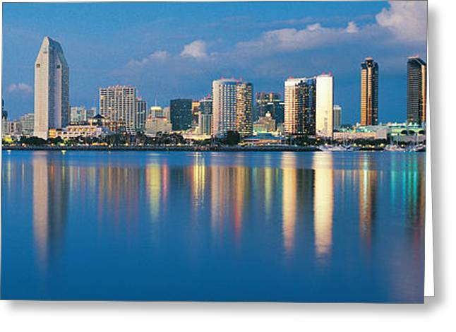 Colorful Reflections Greeting Cards - San Diego Ca Greeting Card by Panoramic Images