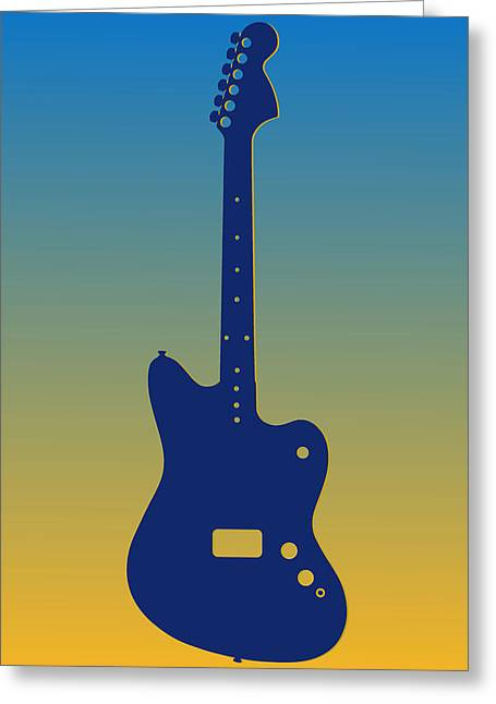Concert Bands Photographs Greeting Cards - San Diego Chargers Guitar Greeting Card by Joe Hamilton