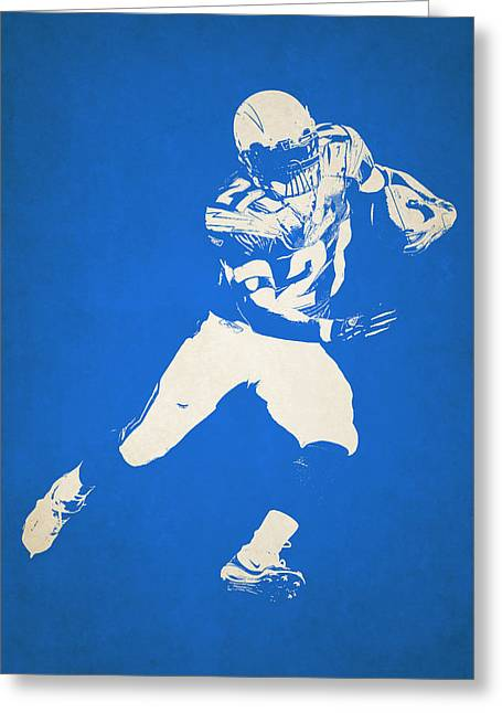 San Diego Chargers Greeting Cards - San Diego Chargers Shadow Player Greeting Card by Joe Hamilton