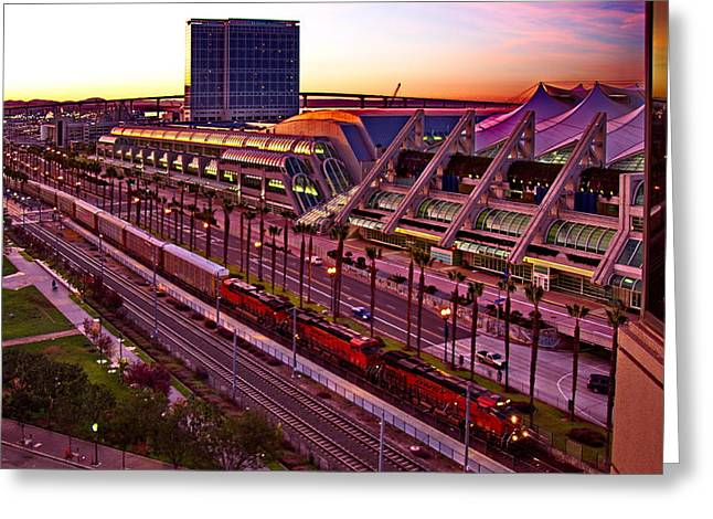 Convention Greeting Cards - San Diego Convention Center Sunset Greeting Card by Russ Harris