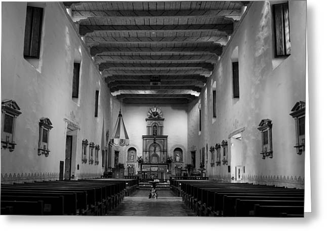 Historic Site Greeting Cards - Sanctuary - San Diego de Alcala Greeting Card by Stephen Stookey