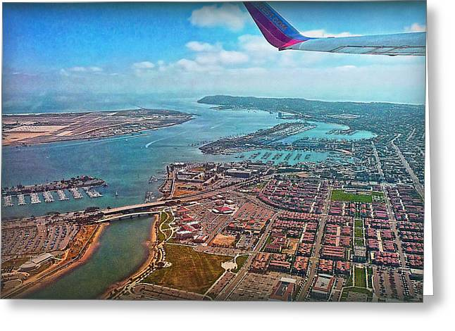 Himmel Greeting Cards - San Diego Harbor View Greeting Card by Hanny Heim