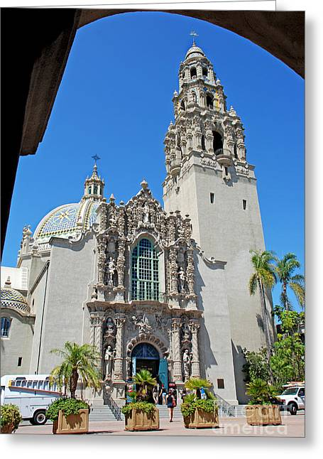Customizable Greeting Cards - San Diego Museum Of Man Greeting Card by Claudia  Ellis