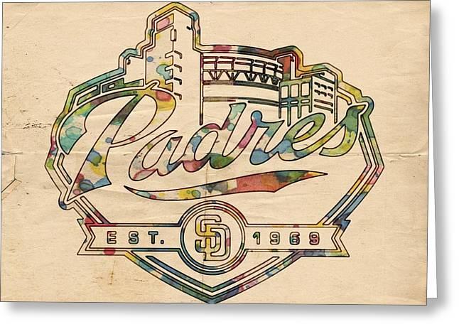 San Diego Padres Greeting Cards - San Diego Padres Memorabilia Greeting Card by Florian Rodarte