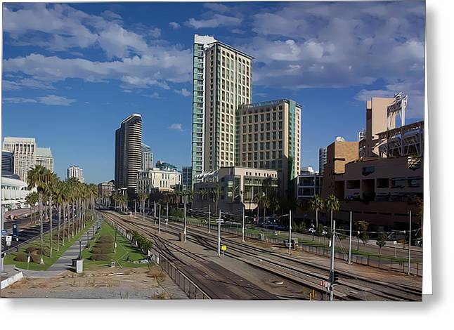 Petco Park Digital Art Greeting Cards - San Diego Greeting Card by Photographic Art by Russel Ray Photos