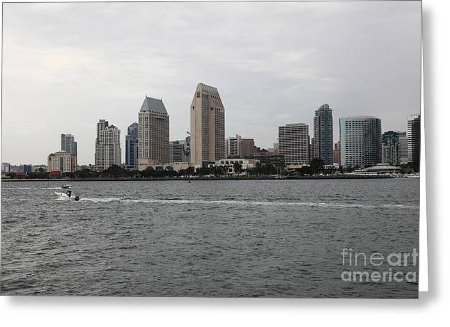 Petco Park Photographs Greeting Cards - San Diego Skyline 5D24335 Greeting Card by Wingsdomain Art and Photography