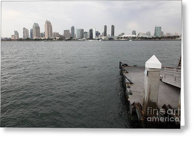 Petco Park Photographs Greeting Cards - San Diego Skyline 5D24348 Greeting Card by Wingsdomain Art and Photography