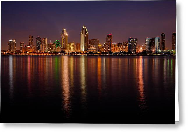 San Diego Skyline Greeting Card by Peter Tellone