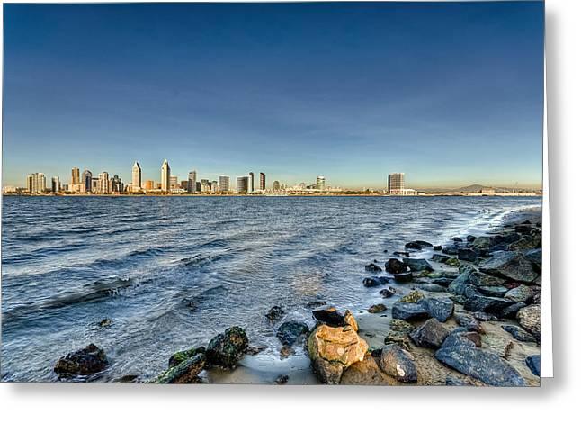 North America Greeting Cards - San Diego Skyline Seven Greeting Card by Josh Whalen
