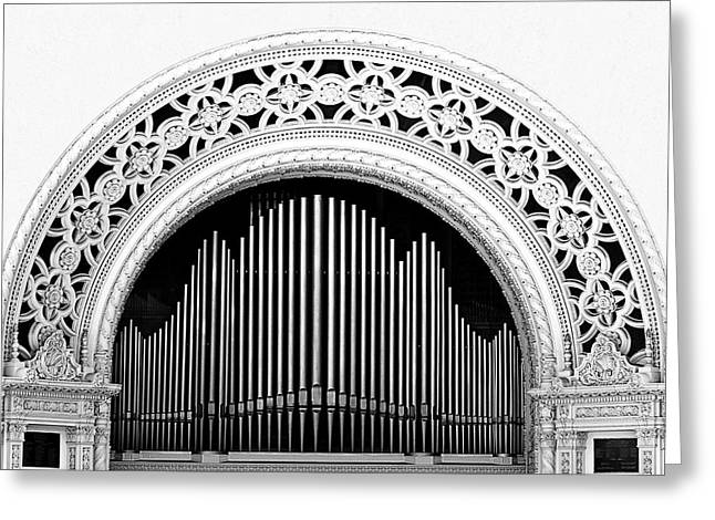 Famous Place Greeting Cards - San Diego Spreckels Organ Greeting Card by Christine Till