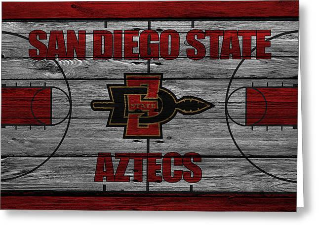 March Greeting Cards - San Diego State Aztecs Greeting Card by Joe Hamilton