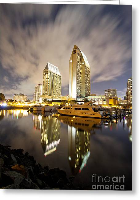 Marriot Greeting Cards - San Diegos full moon  Greeting Card by Laarni Montano