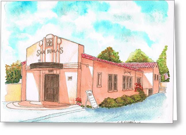 Ladscapes Greeting Cards - San Dimas Rail Road Museum - California Greeting Card by Carlos G Groppa