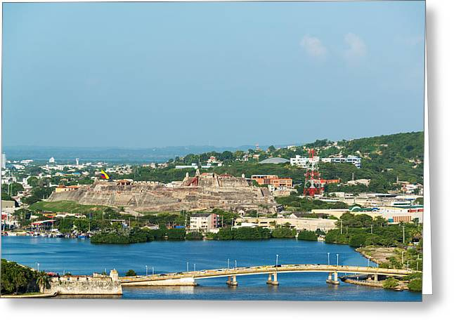 Castillo San Felipe Greeting Cards - San Felipe Castle in Cartagena Greeting Card by Jess Kraft