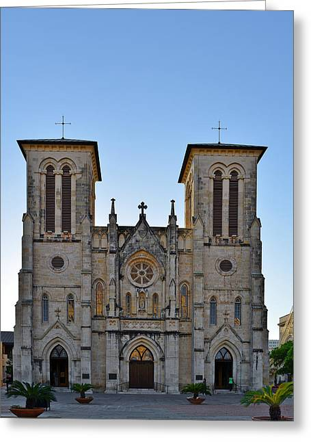 Gospel Greeting Cards - San Fernando Cathedral - San Antonio TX Greeting Card by Christine Till