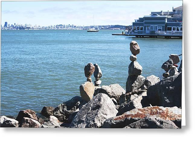 Sausalito Greeting Cards - San Francisco - Rock Art Greeting Card by Haleh Mahbod