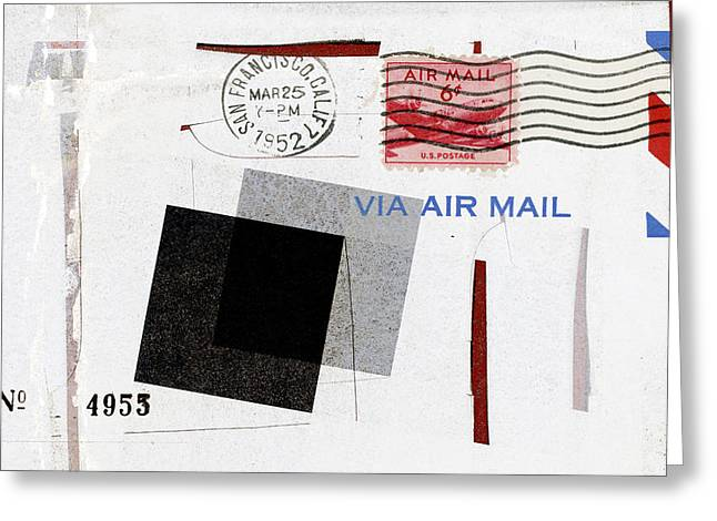 Postal Photographs Greeting Cards - San Francisco 1952 Air Mail Greeting Card by Carol Leigh