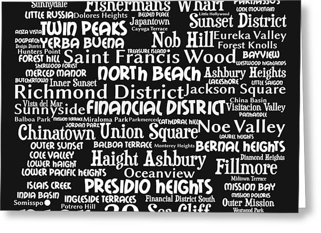 San Francisco 20130710bw Greeting Card by Wingsdomain Art and Photography