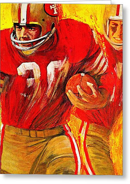 49ers Paintings Greeting Cards - San Francisco 49ers 1966 Vintage Print Greeting Card by Big 88 Artworks