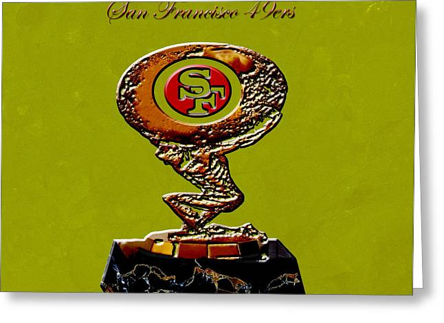 Jerry Rice Greeting Cards - San Francisco 49ers Greeting Card by Brian Reaves