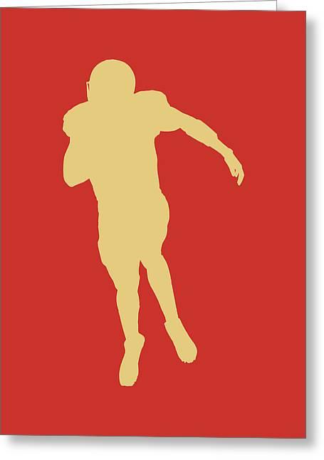 Colin Kaepernick Greeting Cards - San Francisco 49ers Colin Kaepernick Greeting Card by Joe Hamilton