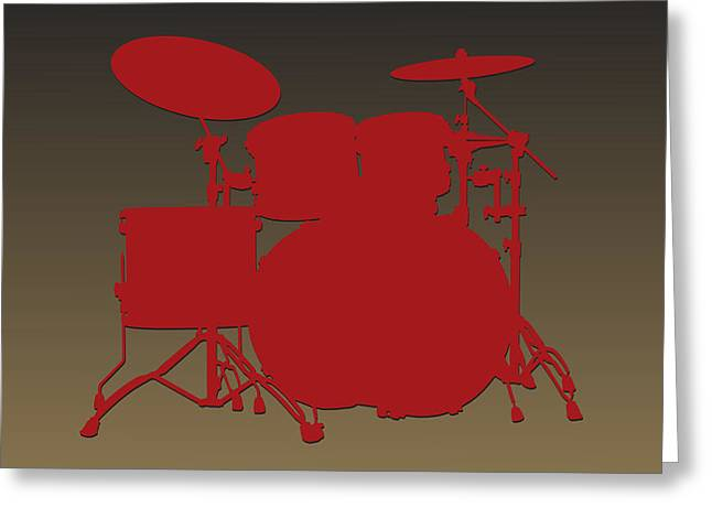 Drum Greeting Cards - San Francisco 49ers Drum Set Greeting Card by Joe Hamilton