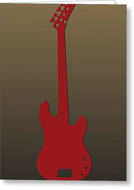 Concert Bands Photographs Greeting Cards - San Francisco 49ers Guitar Greeting Card by Joe Hamilton
