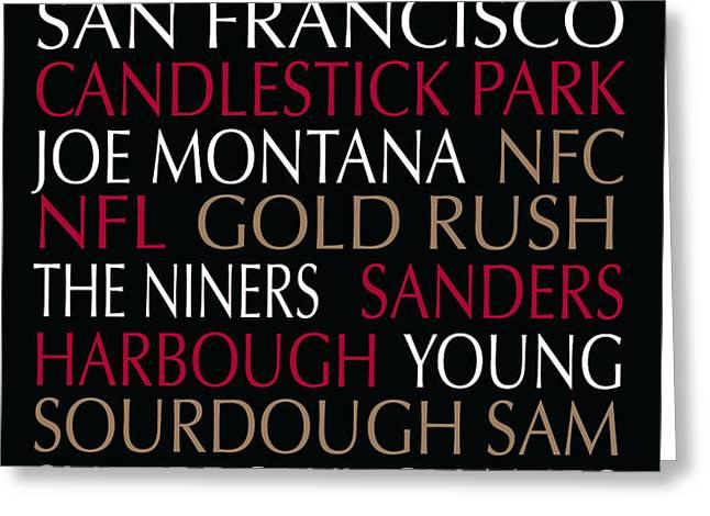 San Francisco 49ers Greeting Card by Jaime Friedman