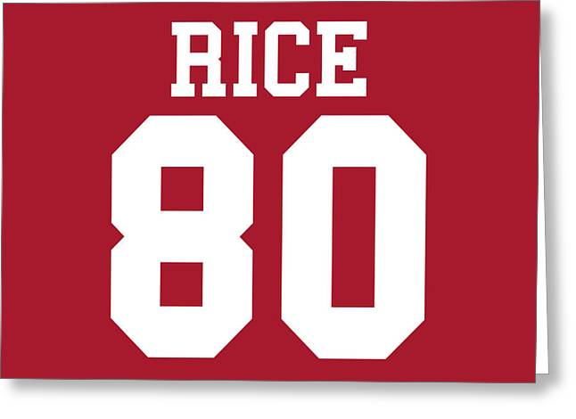 Jerry Rice Greeting Cards - San Francisco 49ers Jerry Rice Greeting Card by Joe Hamilton