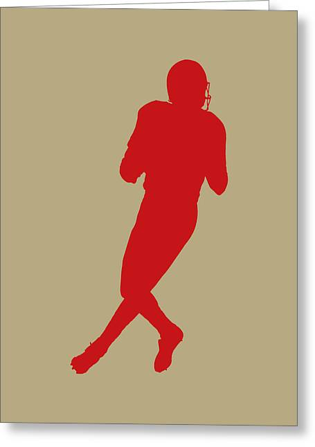 San Francisco 49ers Joe Montana Greeting Card by Joe Hamilton